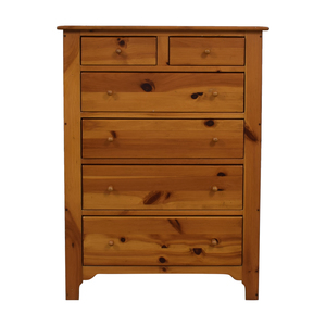 Ethan Allen Ethan Allen Natural Wood Six-Drawer Tall Dresser second hand
