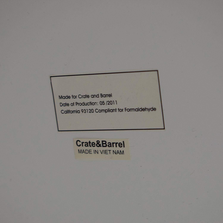Crate & Barrel Crate & Barrel Sawyer White Leaning Bookcase nj