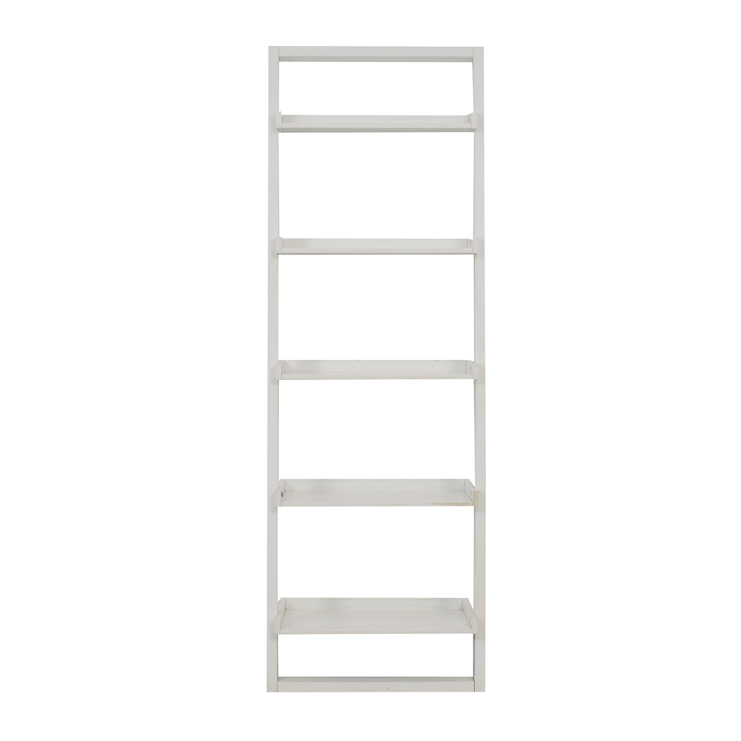 Crate & Barrel Crate & Barrel Sawyer White Leaning Bookcase second hand