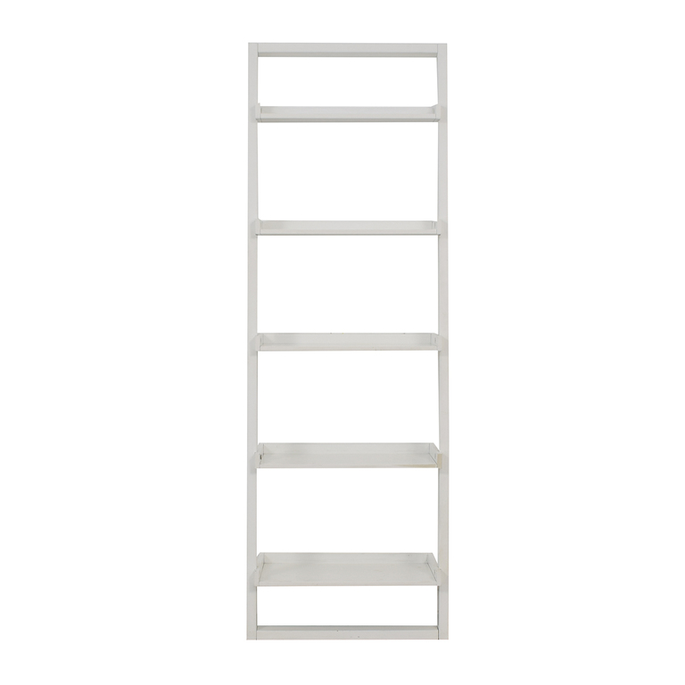 shop Crate & Barrel Sawyer White Leaning Bookcase Crate & Barrel Storage