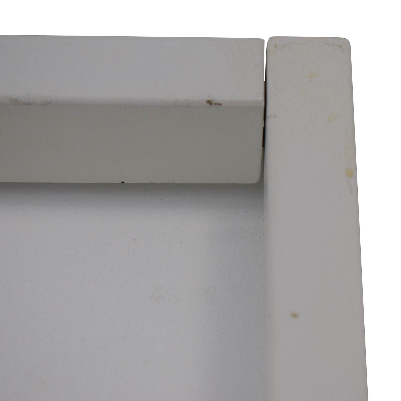 buy Crate & Barrel White Leaning Bookshelf Crate & Barrel