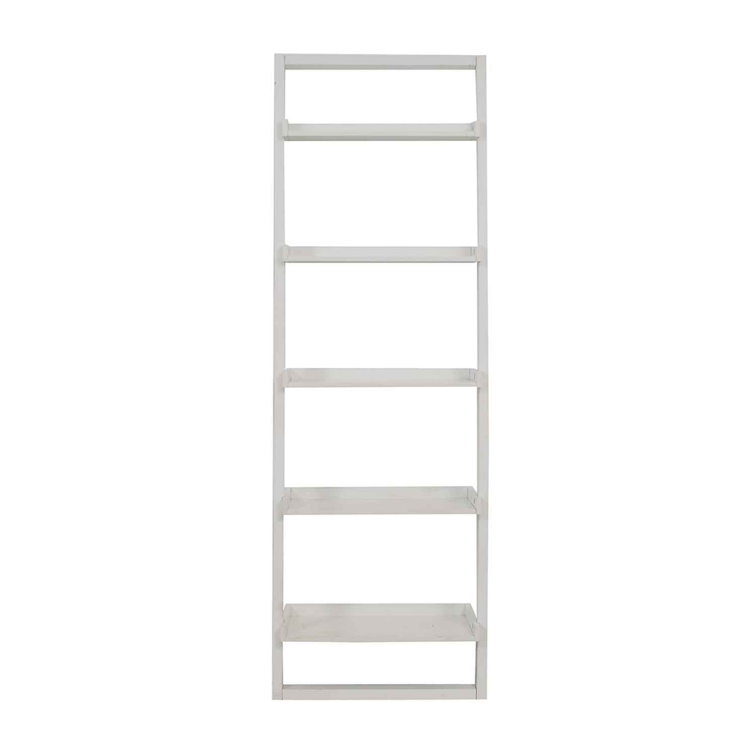 shop Crate & Barrel White Leaning Bookshelf Crate & Barrel Storage