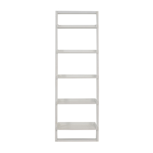 buy Crate & Barrel Crate & Barrel White Leaning Bookshelf online