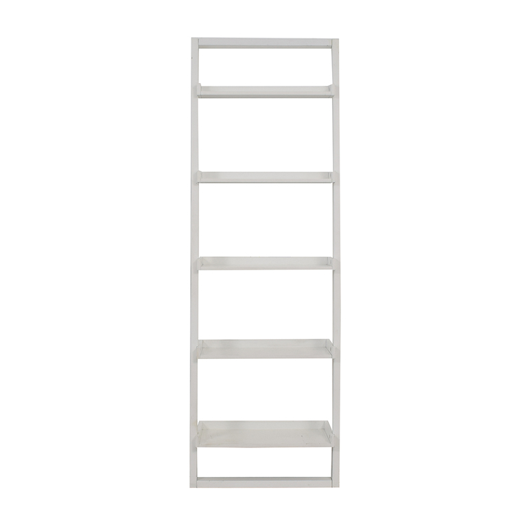 Crate & Barrel Crate & Barrel White Leaning Bookshelf for sale