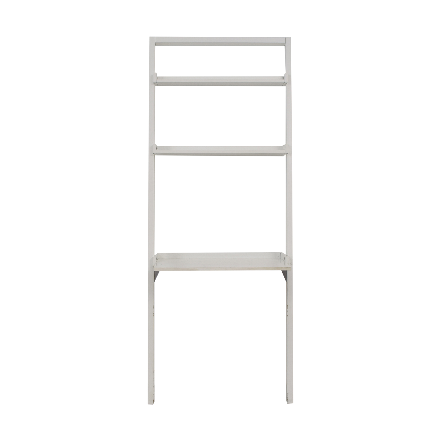 Crate & Barrel White Leaning Desk / Tables
