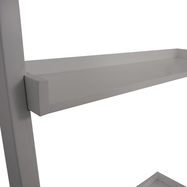 Crate & Barrel White Leaning Desk Crate & Barrel