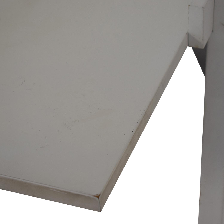 Crate & Barrel Crate & Barrel White Leaning Desk Tables