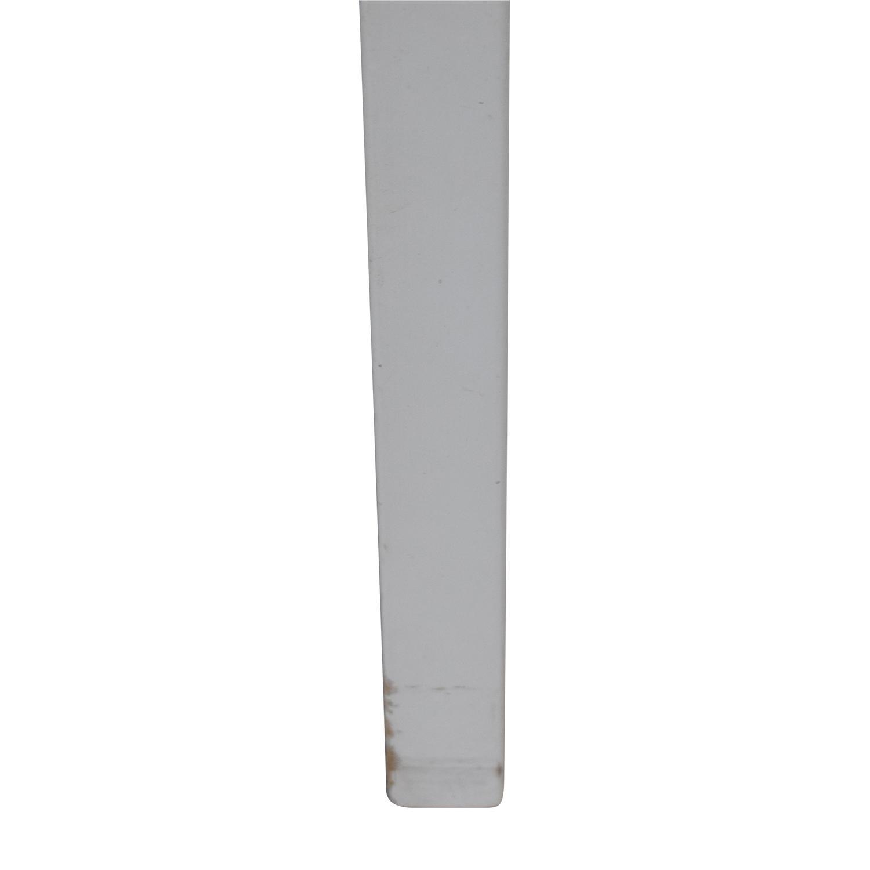 buy Crate & Barrel White Leaning Desk Crate & Barrel Tables
