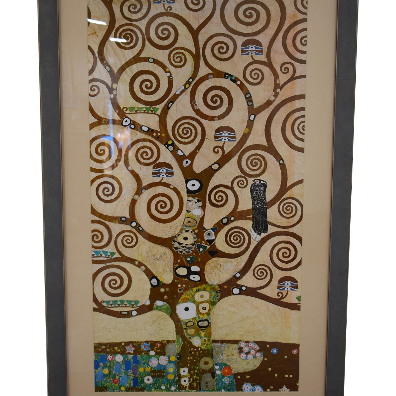 Klimt Tree of Life Framed Print dimensions