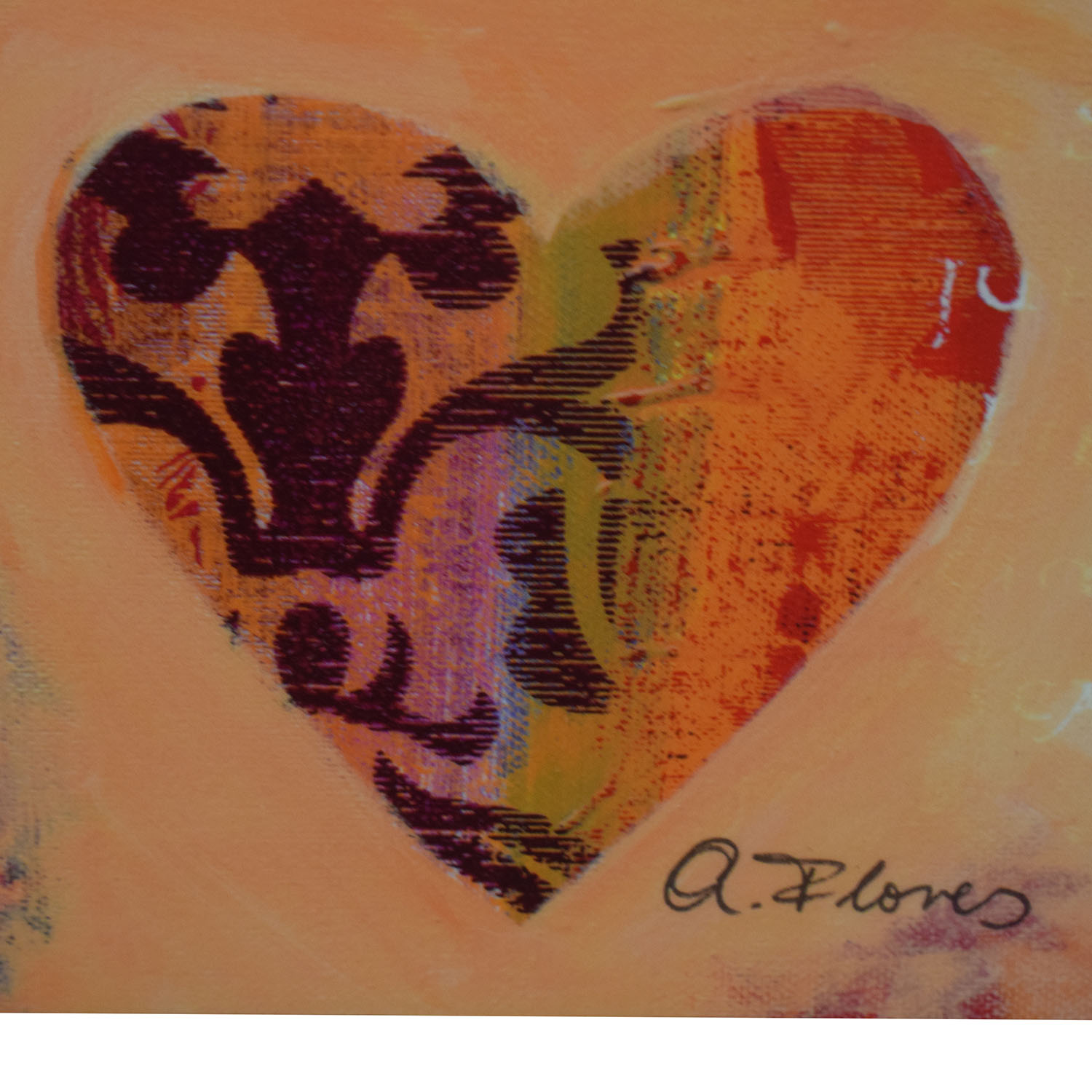 Anna Flores Signed Delightful Hearts Wall Art discount