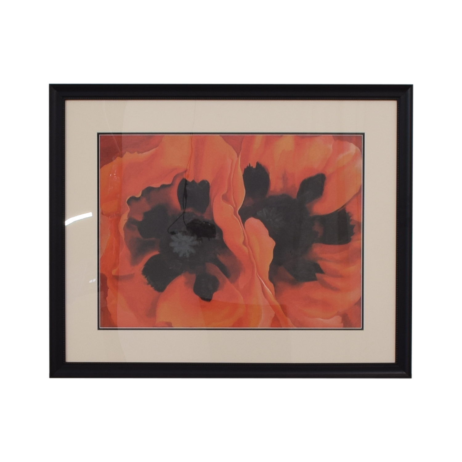 Georgia O'Keefe Framed Oriental Poppies on sale
