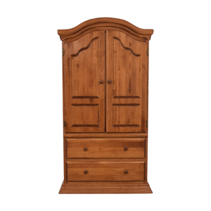 Bellini Bellini Two-Drawer Wood Clothing Armoire second hand