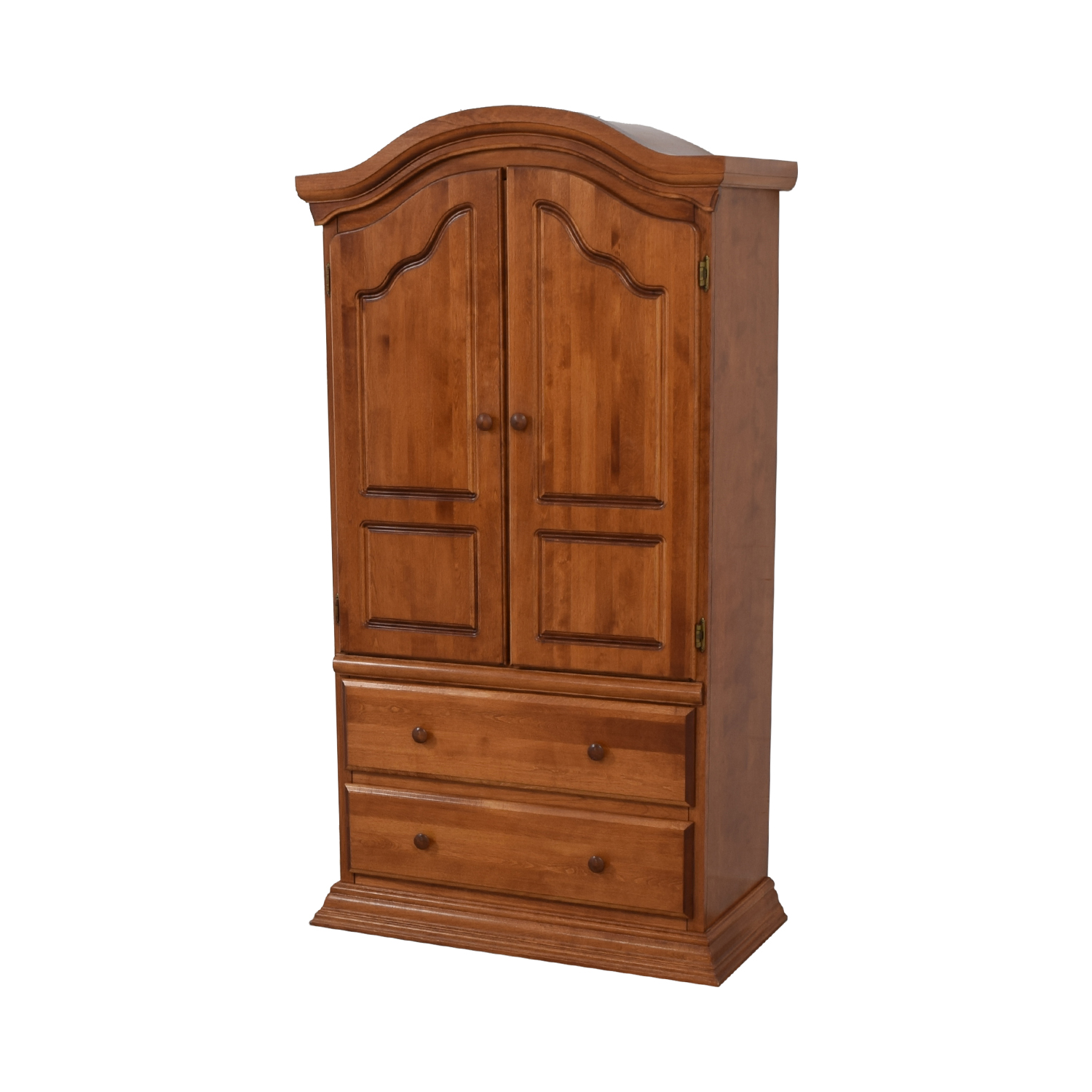 Bellini Two Drawer Wood Clothing Armoire Storage