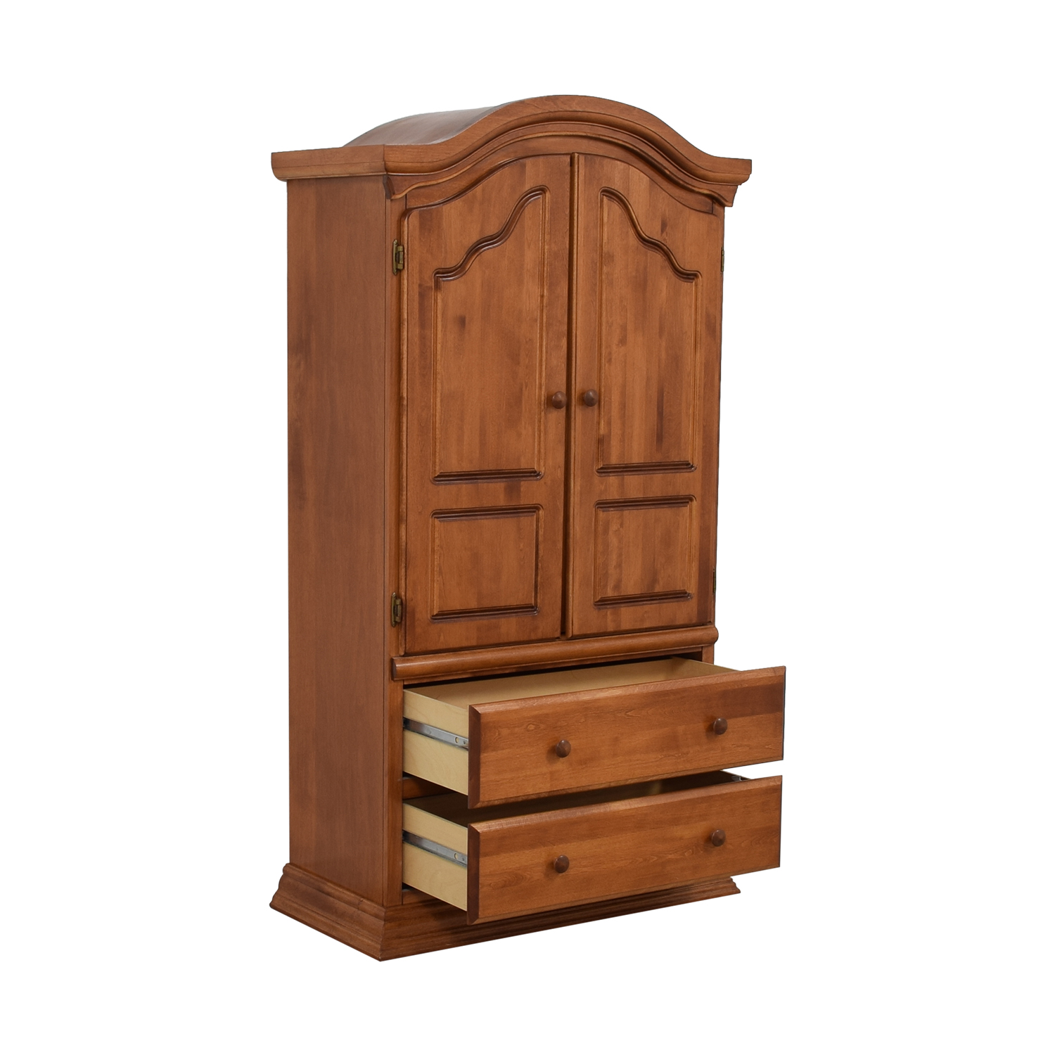 Bellini Bellini Two-Drawer Wood Clothing Armoire Storage