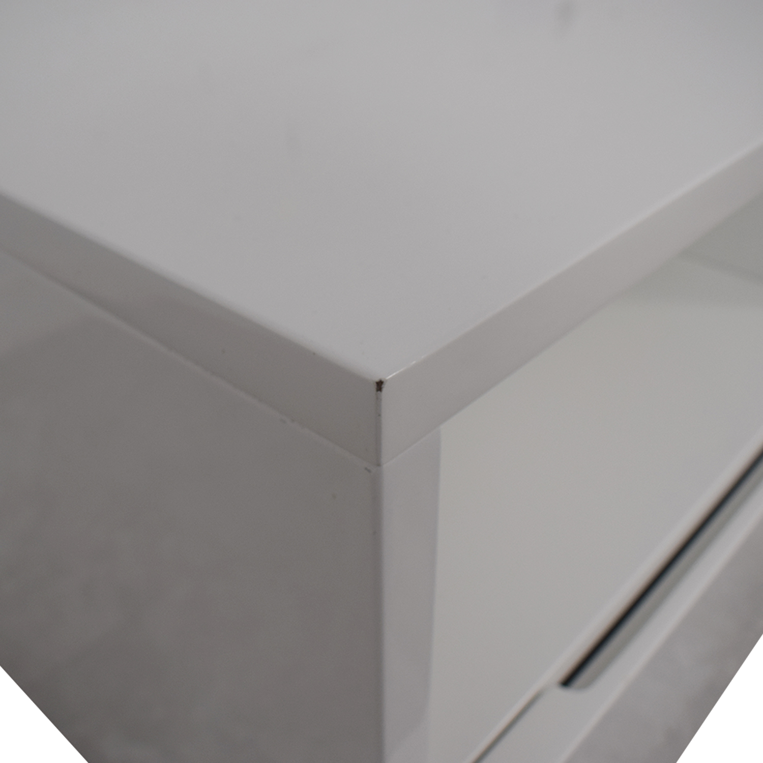 CB2 CB2 Chill White Two-Drawer Media Console used
