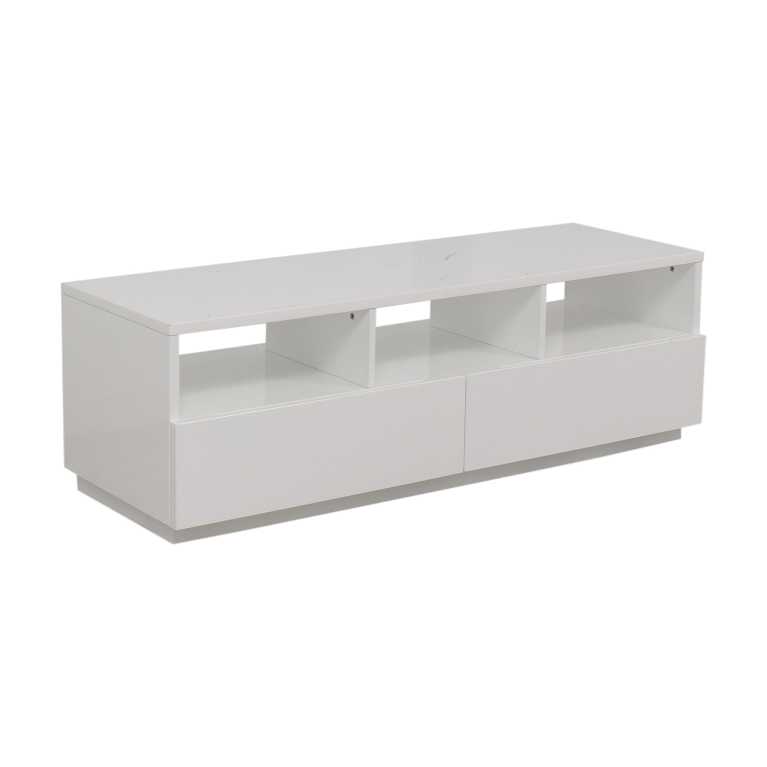 CB2 CB2 Chill White Two-Drawer Media Console nyc