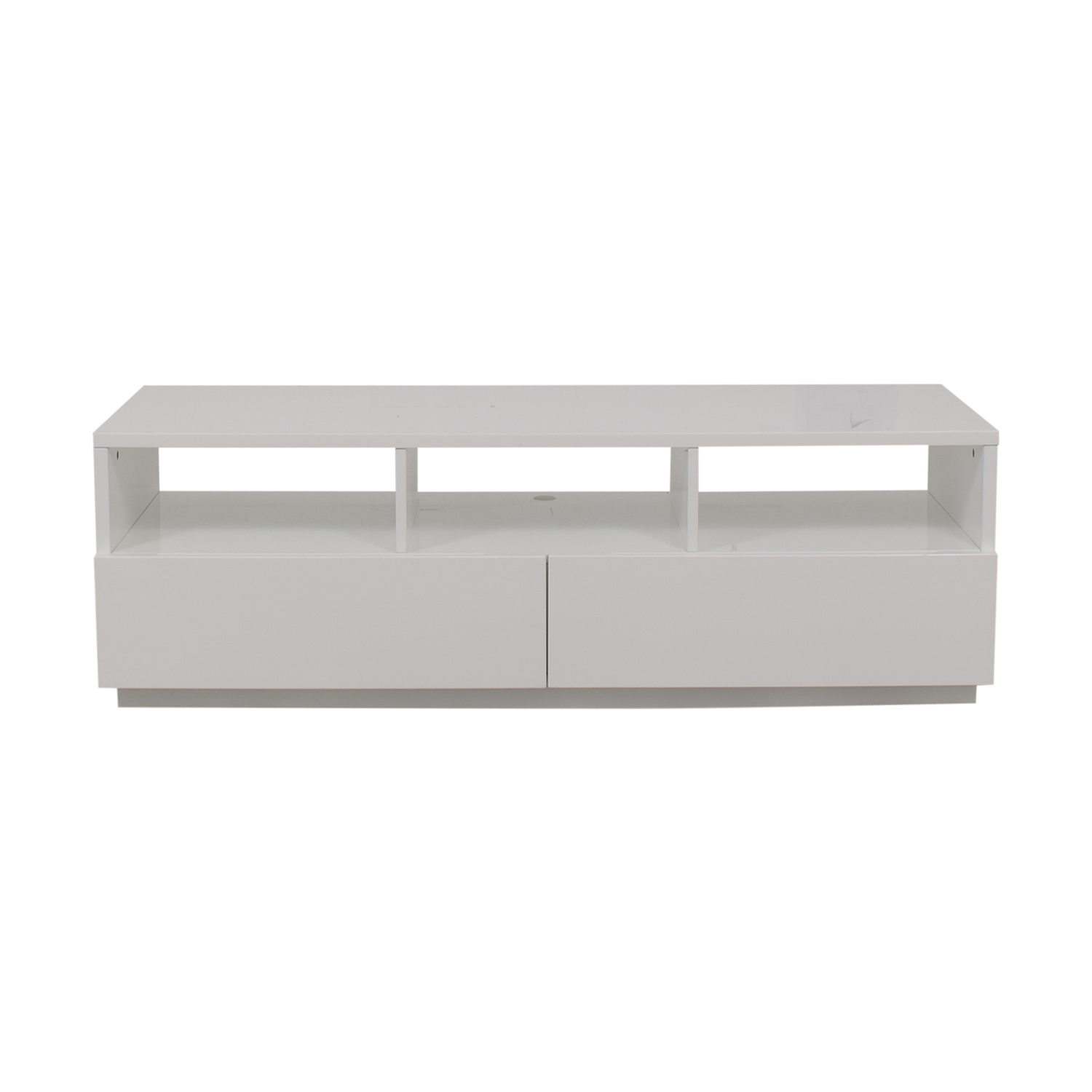 CB2 CB2 Chill White Two-Drawer Media Console on sale