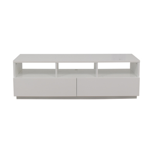 CB2 CB2 Chill White Two-Drawer Media Console for sale
