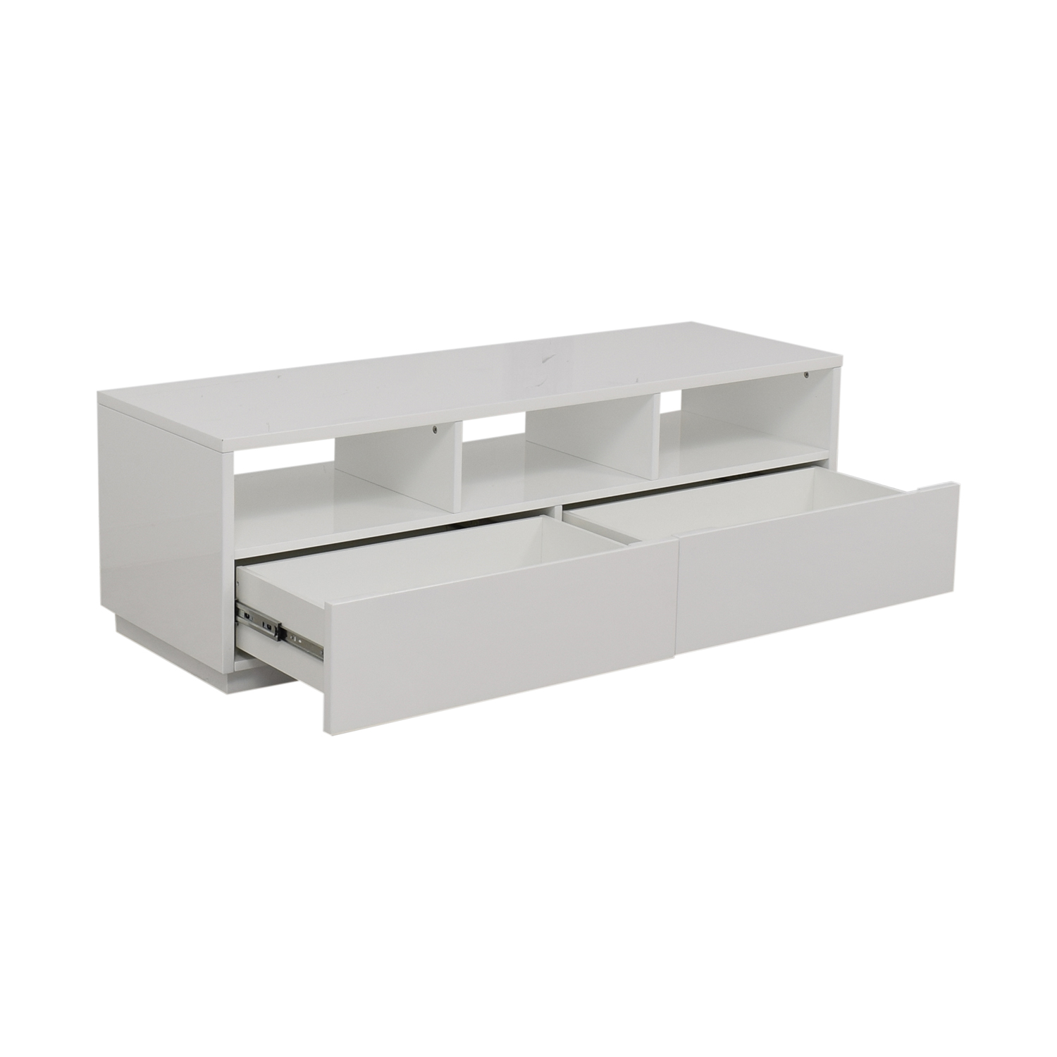 CB2 Chill White Two-Drawer Media Console sale