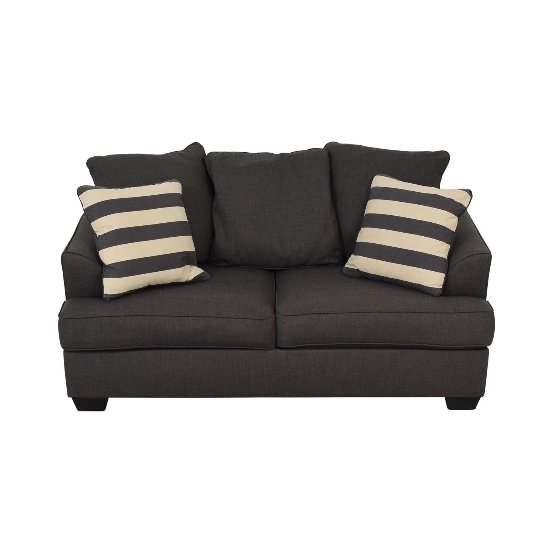 buy Ashley Furniture Levon Charcoal Loveseat Ashley Furniture Loveseats