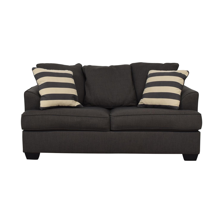 Ashley Furniture Levon Charcoal Loveseat / Sofas