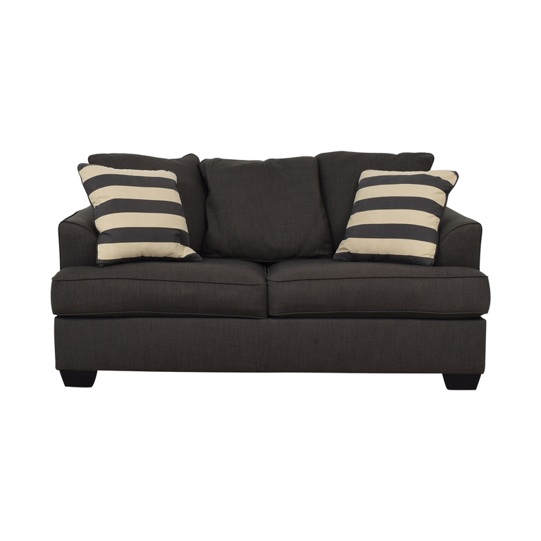 buy Ashley Furniture Levon Charcoal Loveseat Ashley Furniture