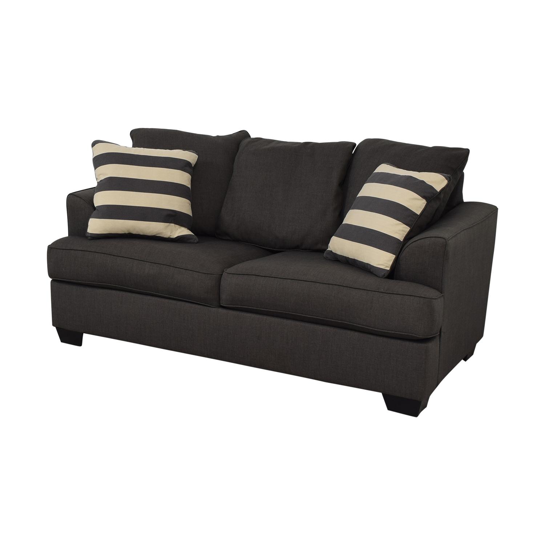 Ashley Furniture Levon Charcoal Loveseat / Loveseats
