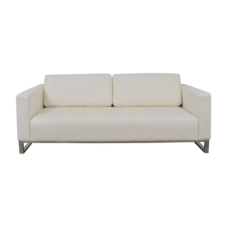 79 Off Modani Modani White Tufted Sofa Sofas