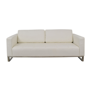 Modani Modani White Tufted Sofa used