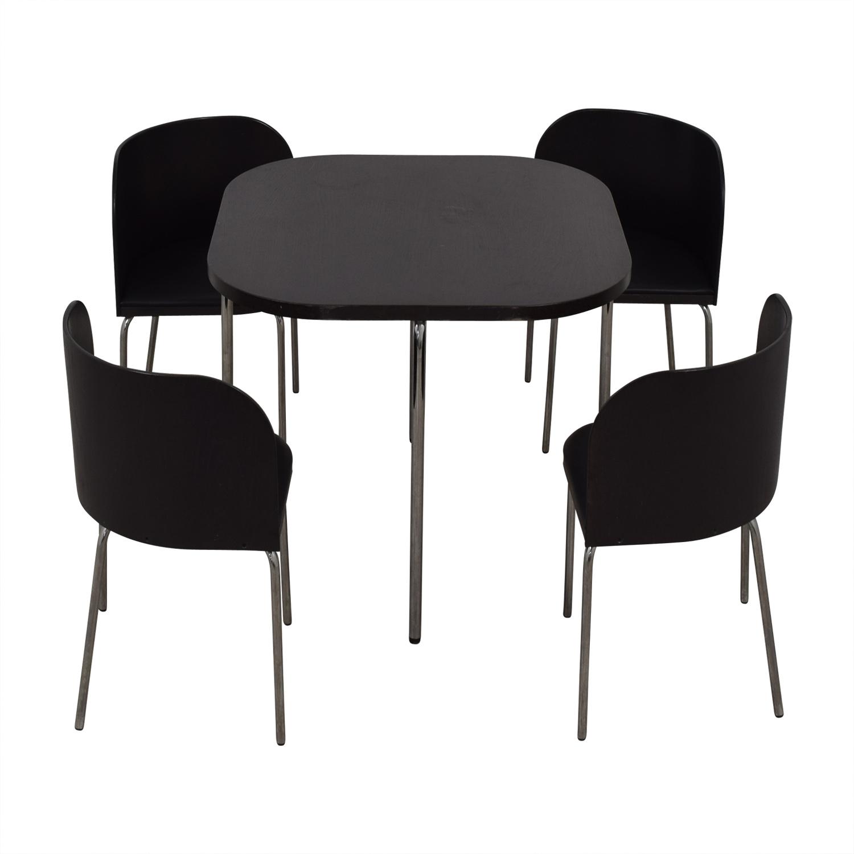 51 Off Ikea Ikea Fusion Black Dining Set Tables