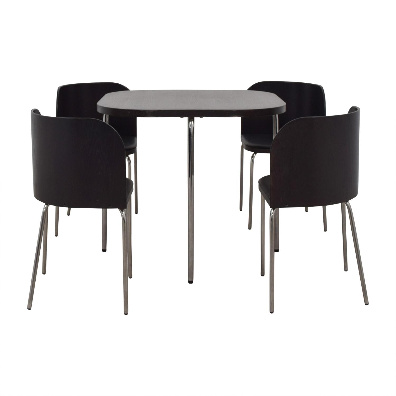 shop IKEA Fusion Black Dining Set IKEA Dining Sets