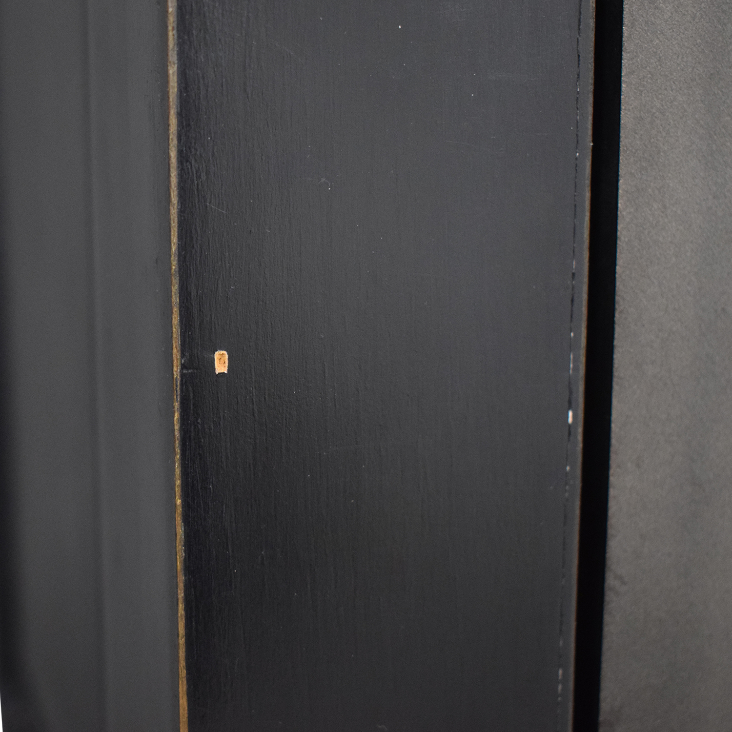 Wood Cabinets with Metal Framed Glass Doors black