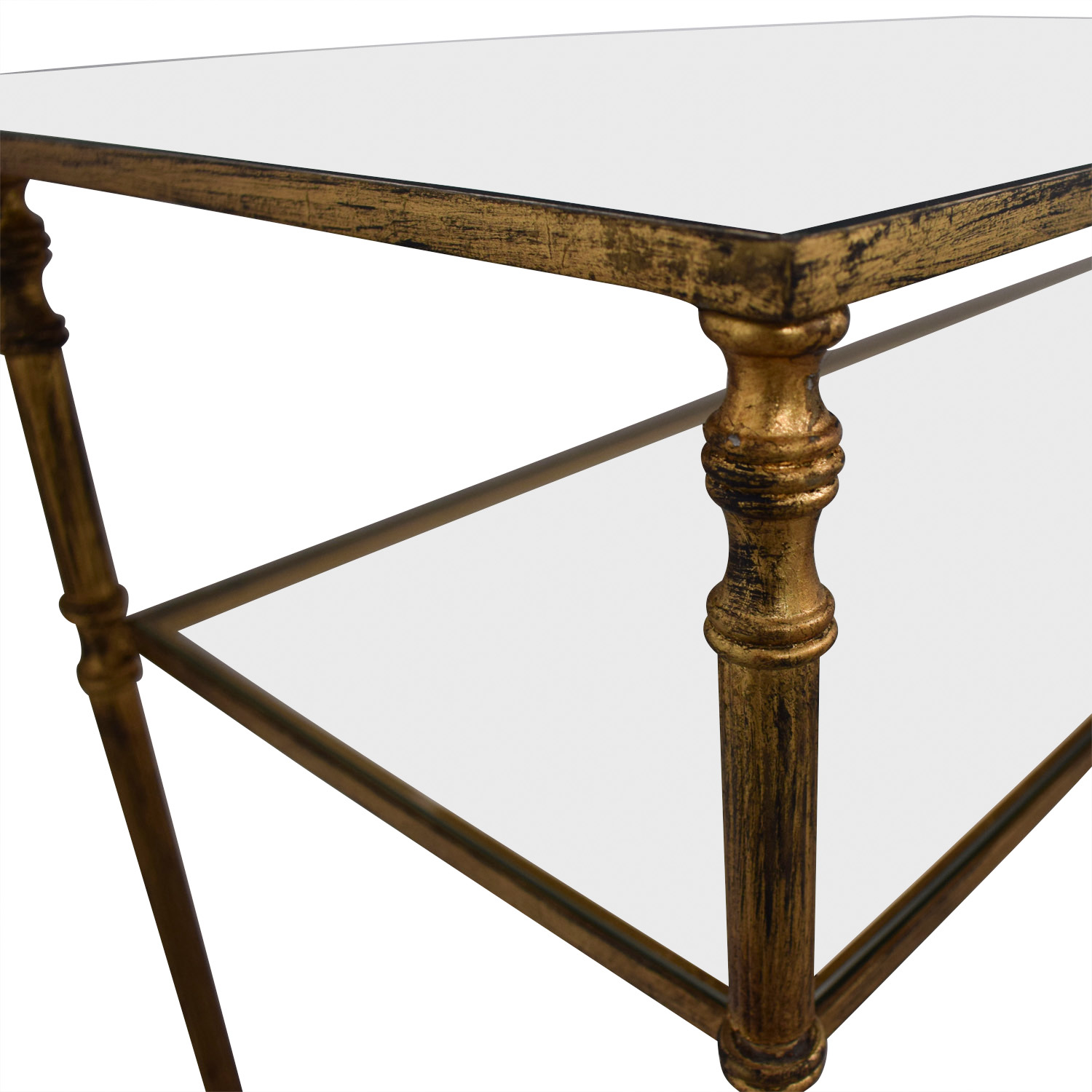 Gold and Glass Accent Table price