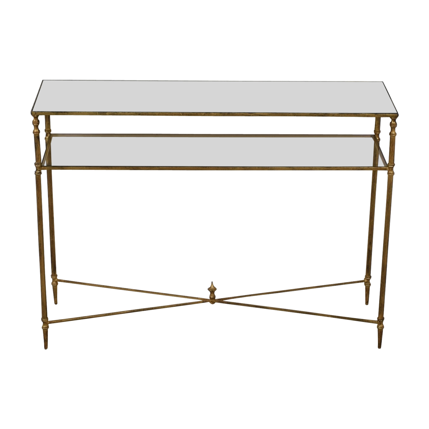 - 82% OFF - Gold And Glass Accent Table / Tables