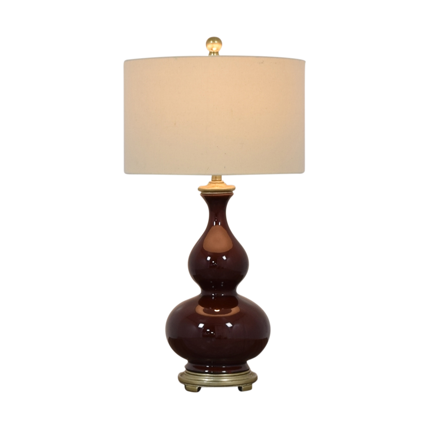 Burgundy Ceramic Table Lamp