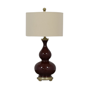 Burgundy Ceramic Table Lamp nj