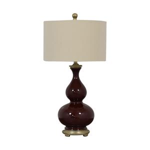Burgundy Ceramic Table Lamp price