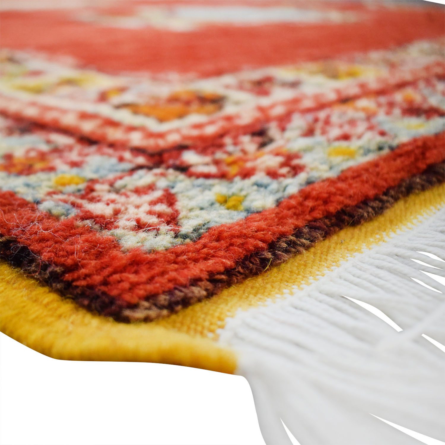 Vintage Red Multi-Colored Moroccan Rug Rugs