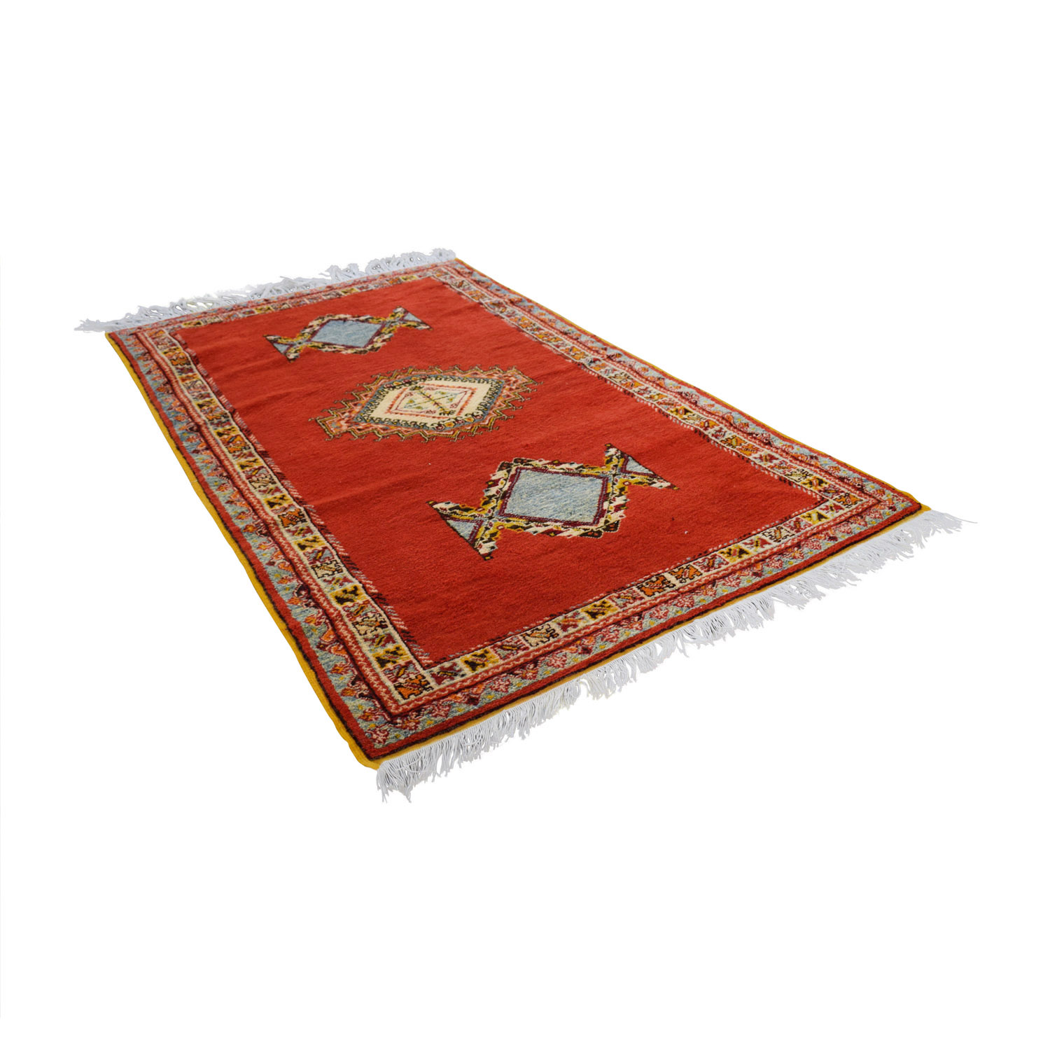 Vintage Red Multi-Colored Moroccan Rug price