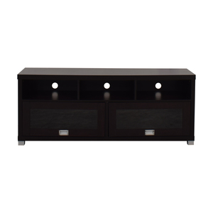 buy  Brown and Glass TV Stand online