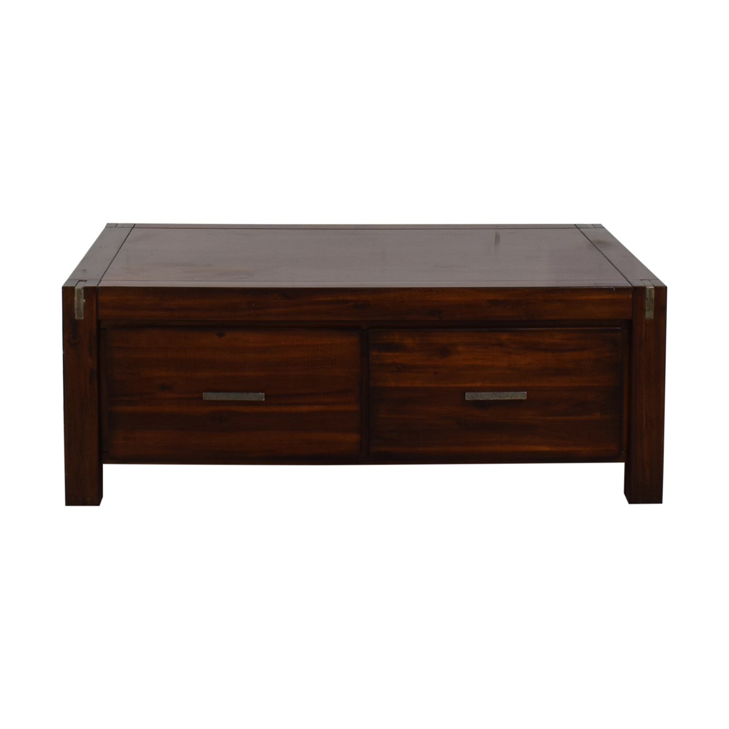 buy Ethan Allan Wood Coffee Table with Storage Ethan Allan Coffee Tables