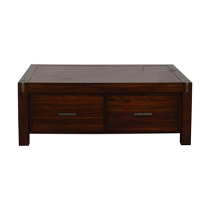 Ethan Allan Ethan Allan Wood Coffee Table with Storage second hand