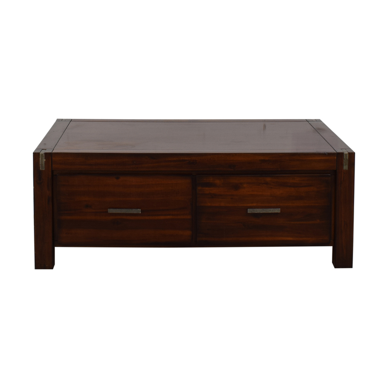 Ethan Allan Ethan Allan Wood Coffee Table with Storage dimensions