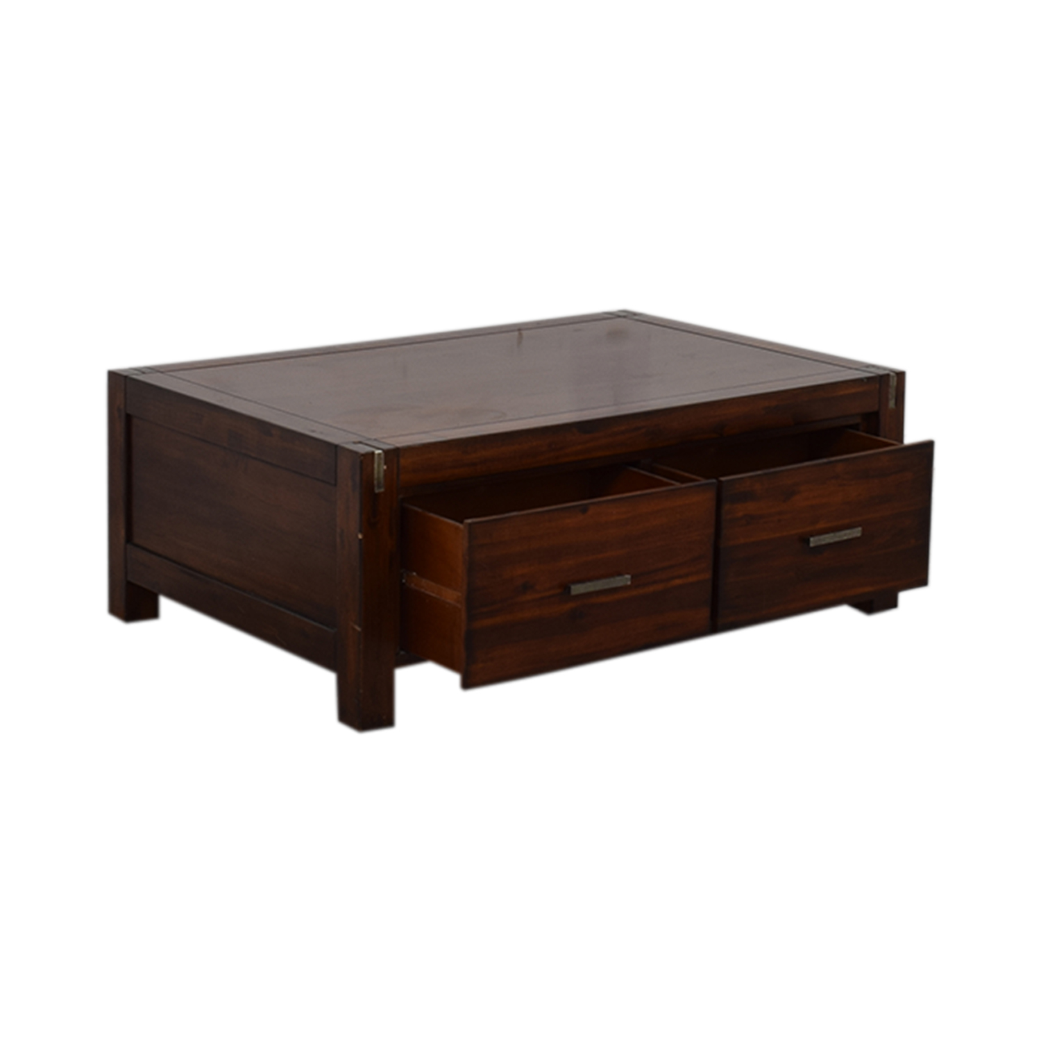 Ethan Allan Wood Coffee Table with Storage / Tables