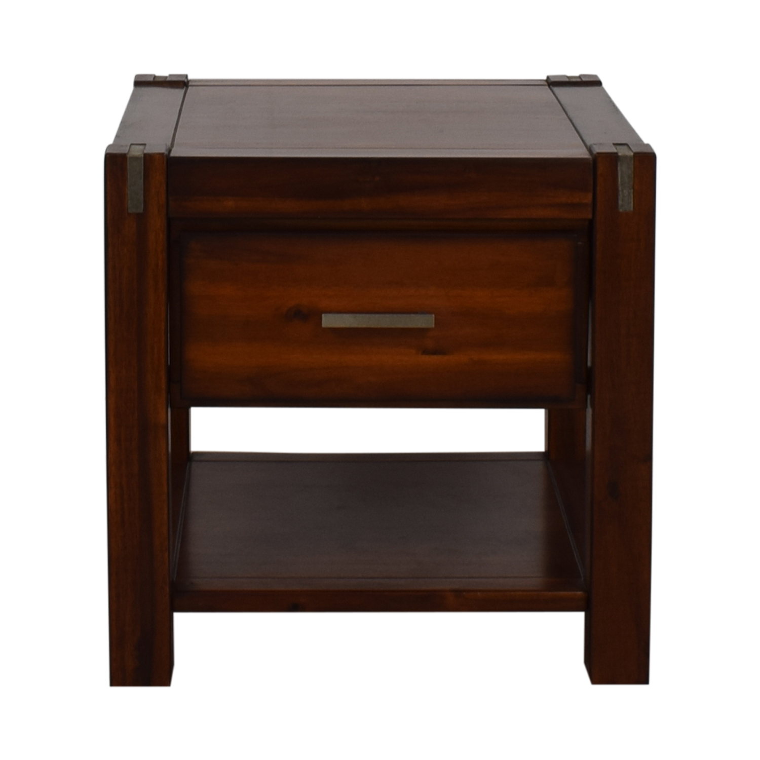 Jofran Furniture Jofran Furniture Wood Single-Drawer End Table brown