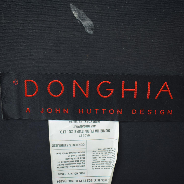 shop Donghia Burgundy Loveseat Donghia
