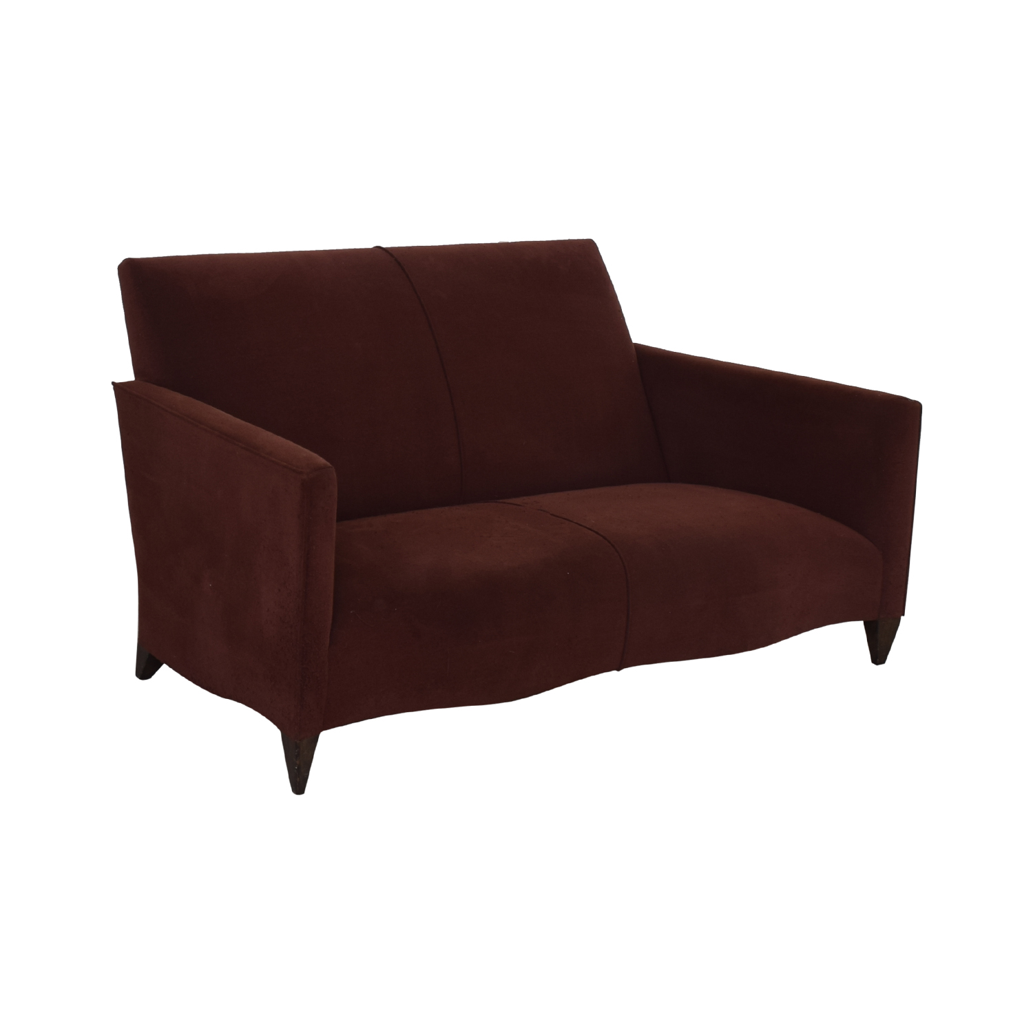 shop Donghia Burgundy Loveseat Donghia Sofas