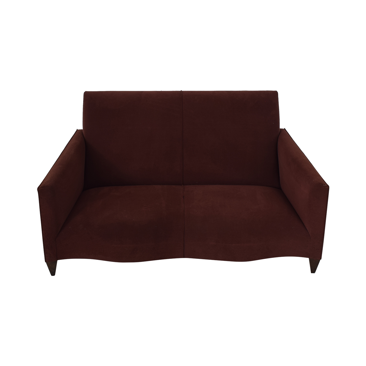 Donghia Donghia Burgundy Loveseat on sale
