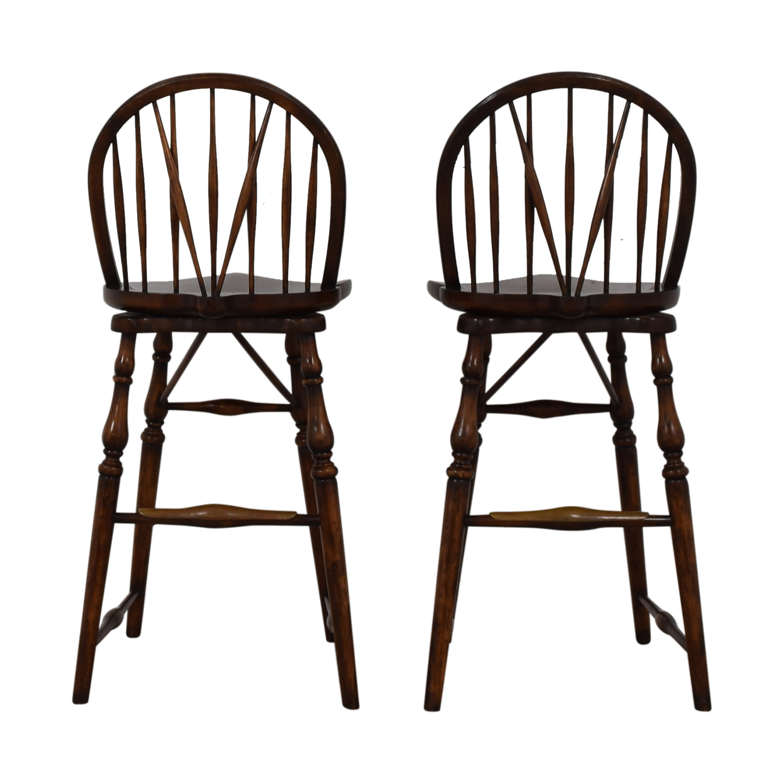 David Michael Furniture Wood Bar Stools sale
