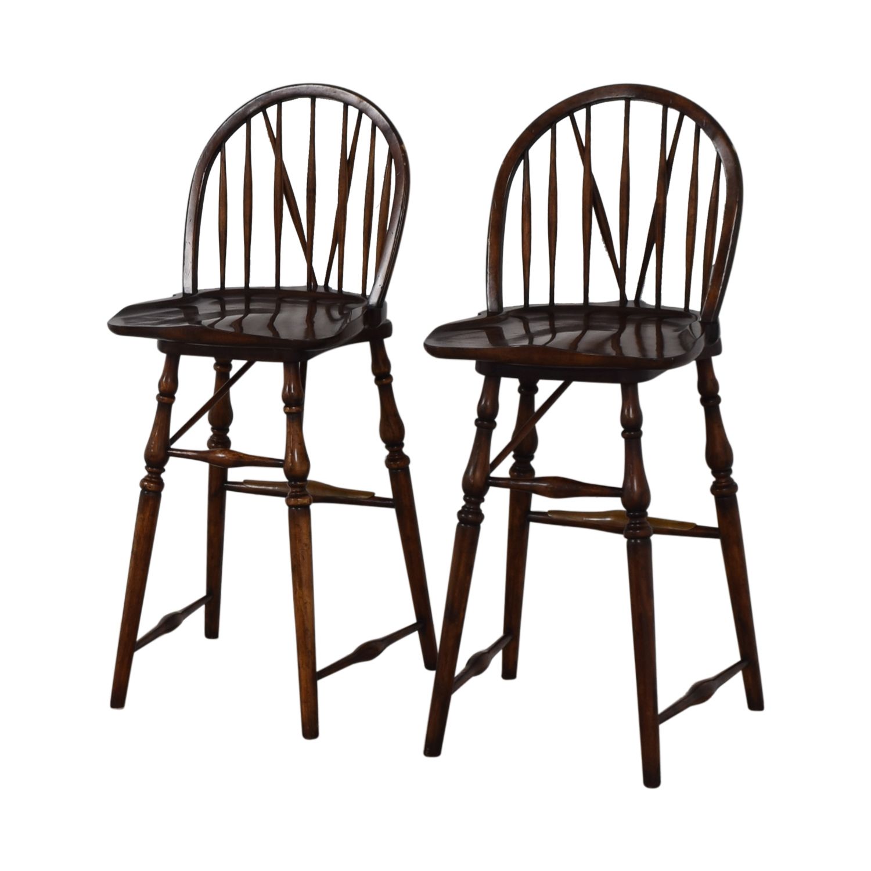 David Michael Furniture Wood Bar Stools / Stools